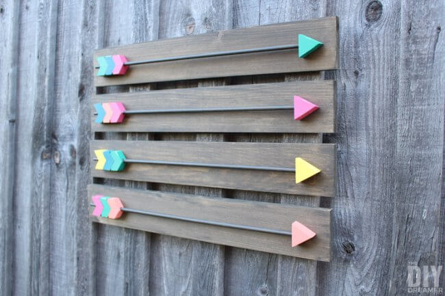 DIY Rustic Arrow Art