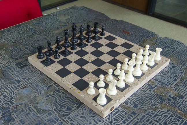 DIY Chessboard in Concrete