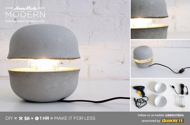 Concrete Bowl Lamp
