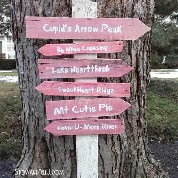 Valentine's Trail Sign