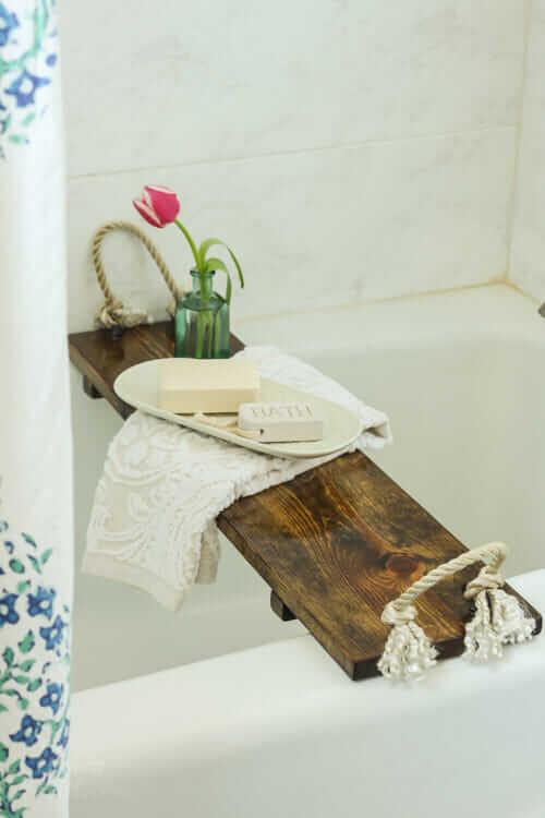 Diy Bath Tub Tray Tutorial
