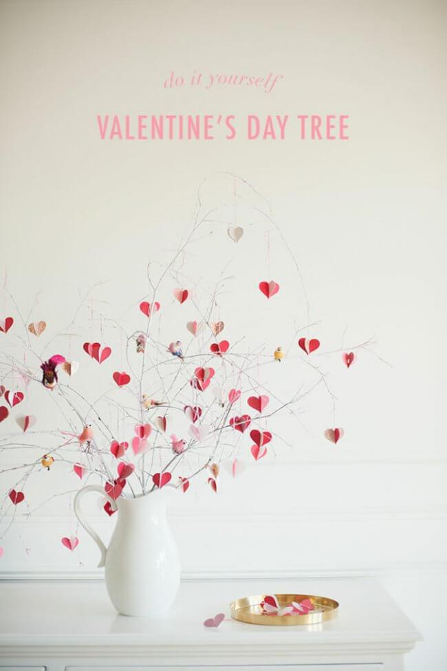 DIY Heart Branch Tree