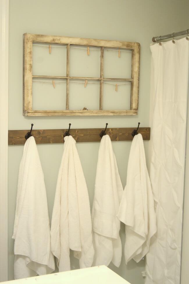 Rustic towel hooks