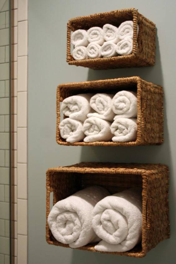 Wall-mounted baskets