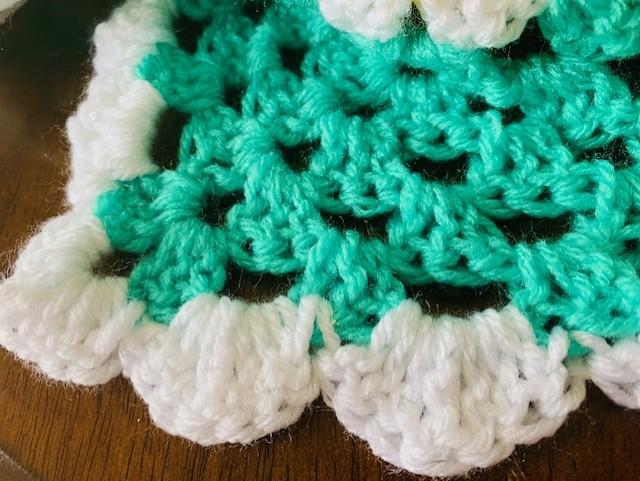 Crochet Sherbet Striped Baby Blanket