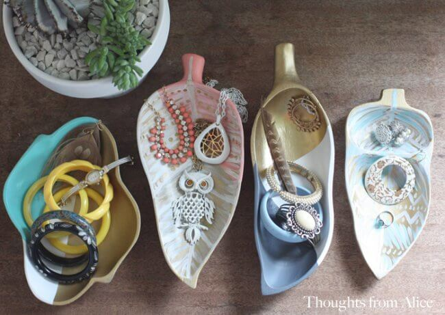 Creating Jewelry Storage Trays with Upcycled Thrift Store Finds