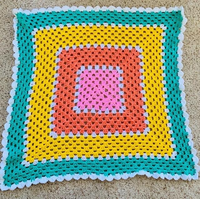 Crochet Sherbet Striped Baby Blanket - Free Pattern