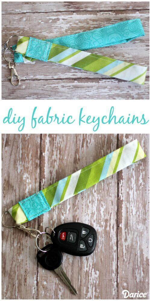 DIY Keychain Tutorial: Fabric Wristlet
