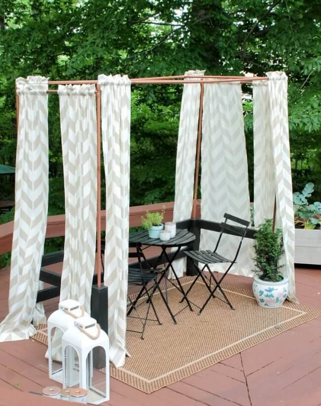 Diy Mini Cabana: Cool Copper Pipe Project For Your Deck