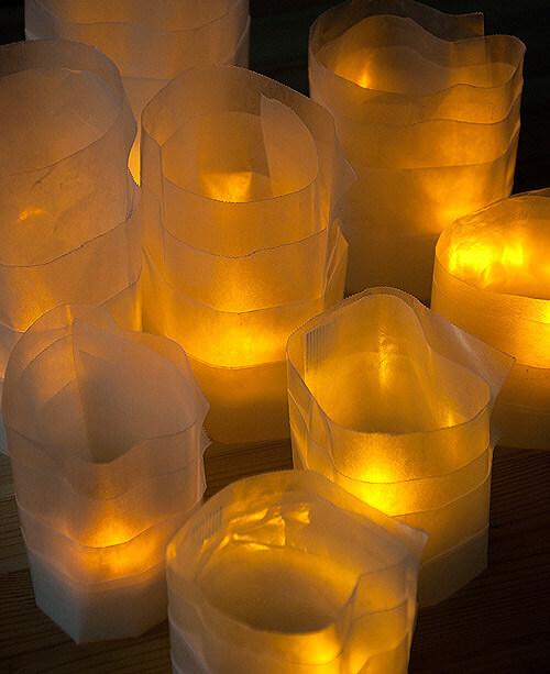 Outdoor Lighting Made With Unconventional Material