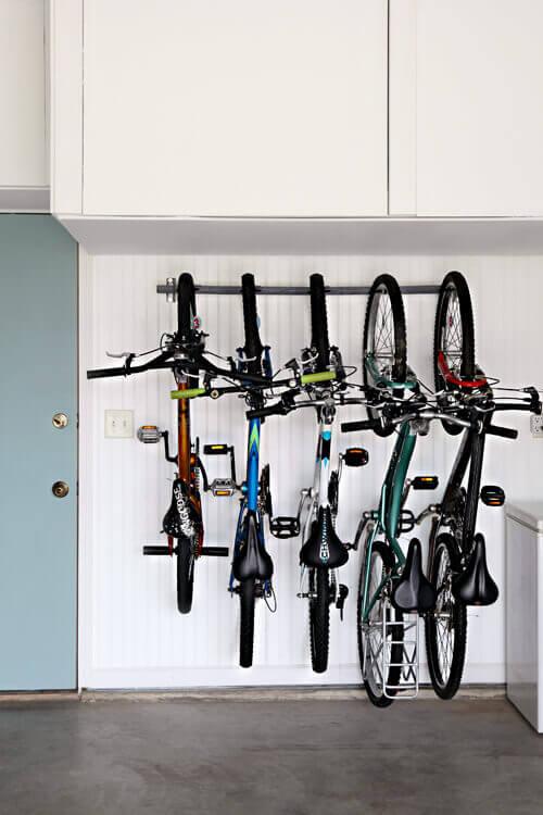 12 Smart Garage Organization Ideas - Garage Update: Family Bike Storage