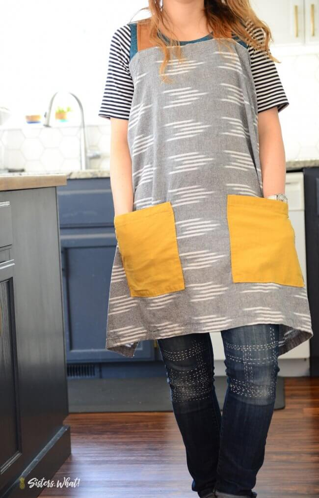 Farmhouse Linen Pinafore Apron Pattern And Tutorial