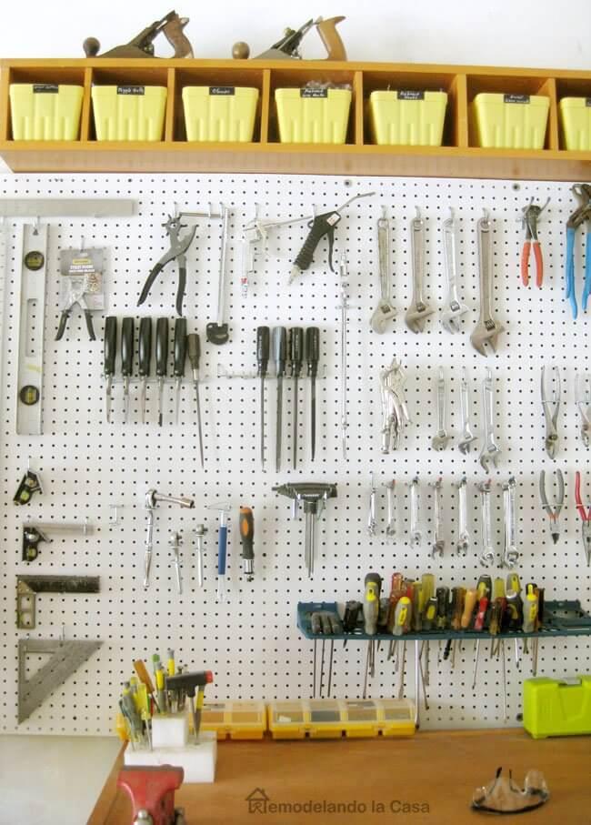 12 Smart Garage Organization Ideas - Garage Organization - How to Install a Pegboard