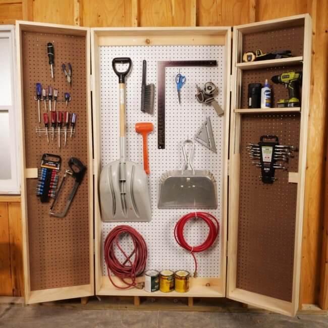12 Smart Garage Organization Ideas -  How To Build A Lockable Storage Cabinet