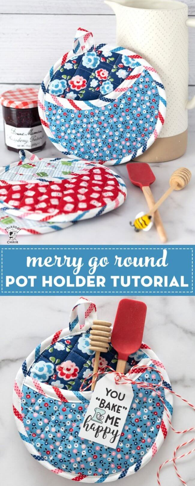 How to Make Round Quilted Potholders
