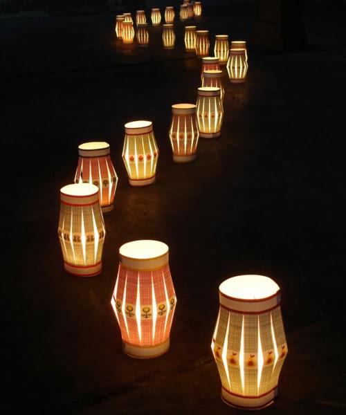 Magical Backyard With Tea Lights
