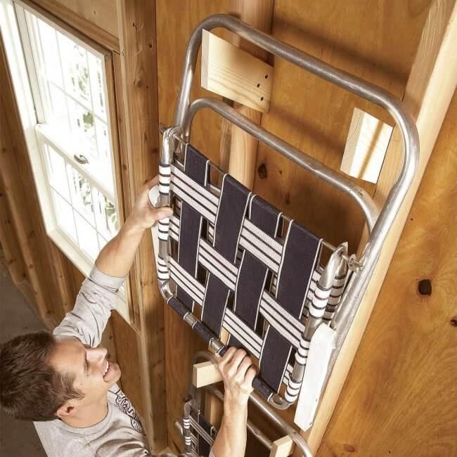 12 Smart Garage Organization Ideas - Scrap Wood Brackets