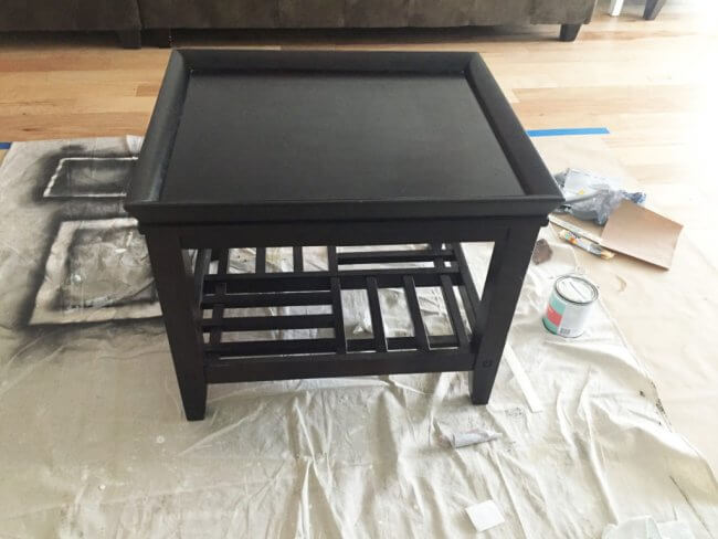 End Table Coastal Makeover - End Table Before