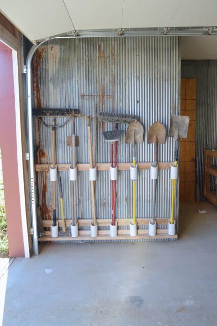 12 Smart Garage Organization Ideas - The DIY garden tool storage idea