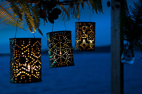 Up-Cycled Tin Can Outdoor Patio Lights
