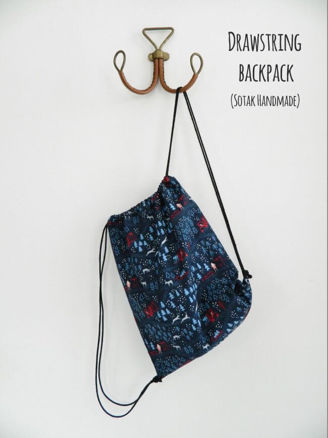 Drawstring backpack (a free tutorial)