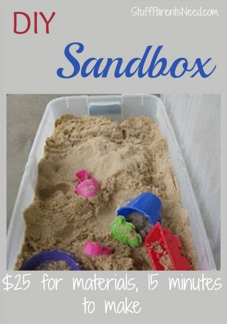 A $25 DIY Sandbox That You Can Build In 15 Minutes