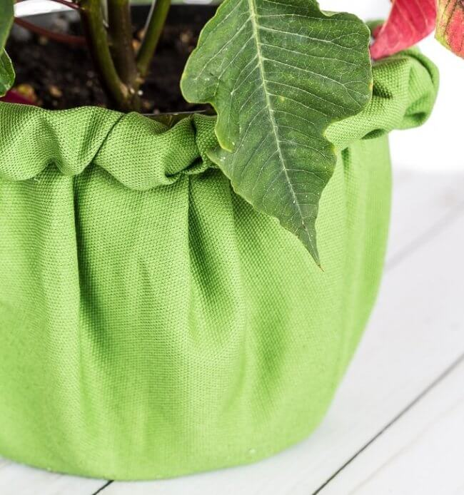 Creative Way to Wrap a Christmas Plant or Flower Pot