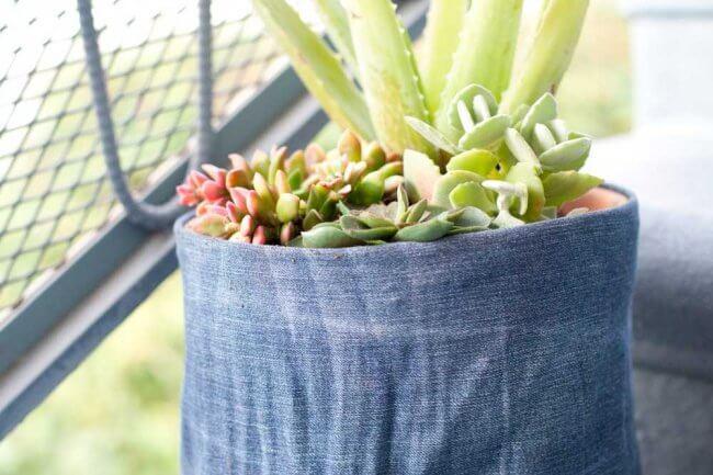 DIY Denim Flower Pot Cover