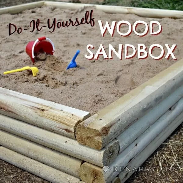 DIY Wood Sandbox Tutorial for Backyard