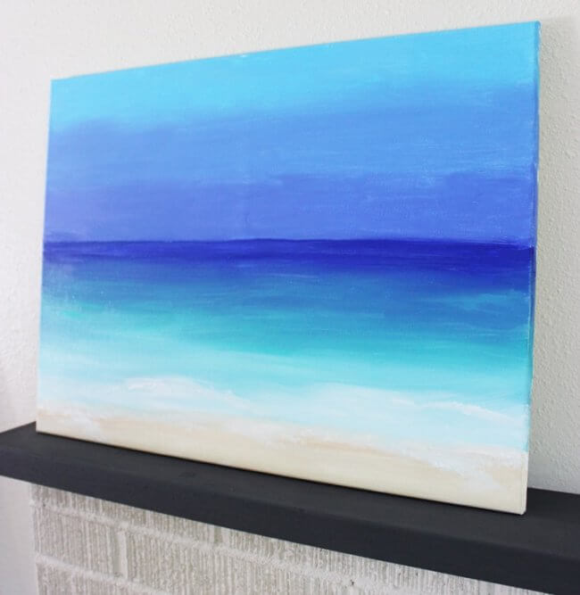Diy Painting: 15 Minute Ocean Scene