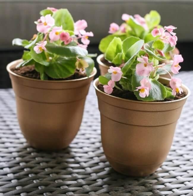 Easy Diy Gold Flowerpots