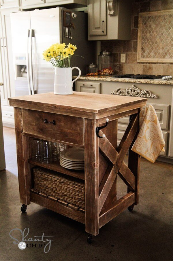 Kitchen Island Inspired By Pottery Barn