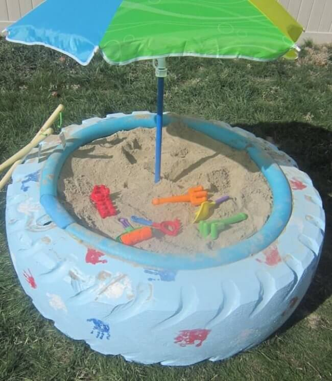 Make A Sandbox With A Tire