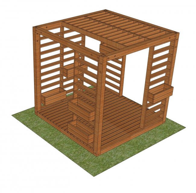 Modern Pergola (with Louvres) Project Plans