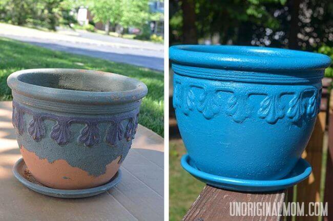 Spray Paint a Flower Pot