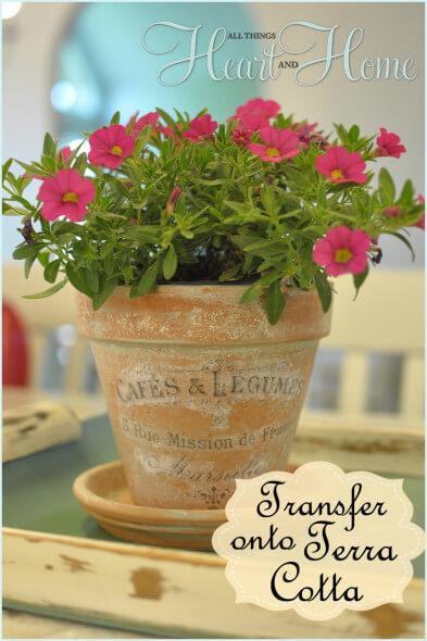 Transferring Images Onto Terra Cotta Flower Pots