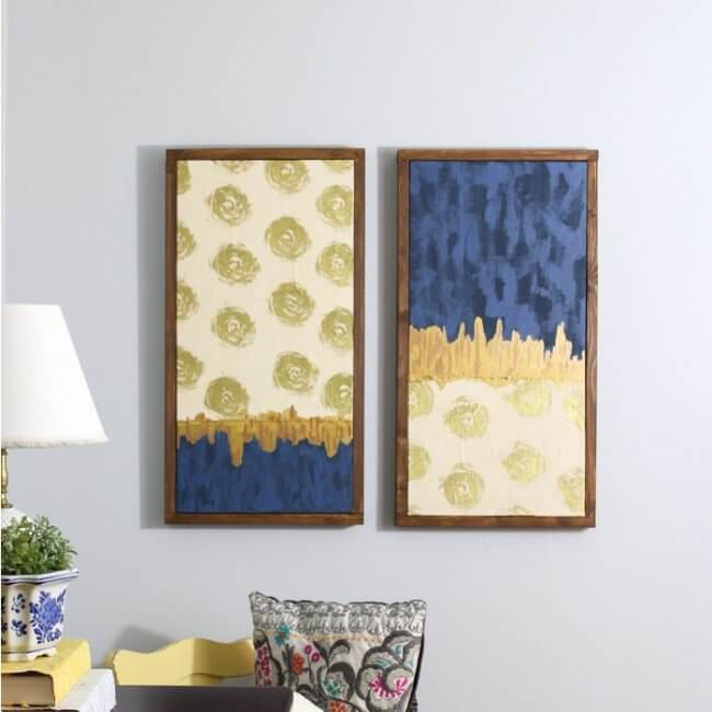 Upgrade Bare Walls with DIY Canvas Art (It's Made With Wrapping Paper!)