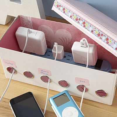18 Diy Ideas To Make The Perfect Charging Station | Crafty Club