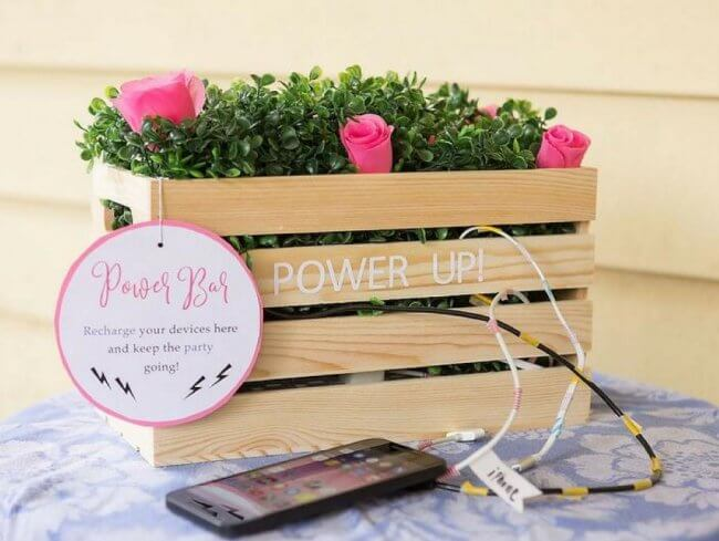 Diy Charging Station For Your Wedding