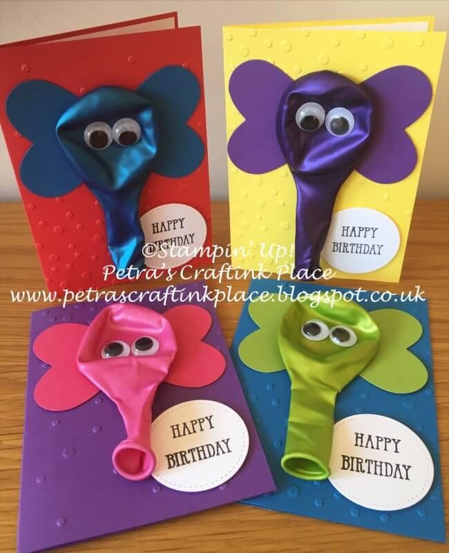 Elephant Balloon Birthday Cards