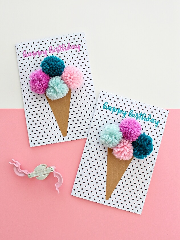 Free Printable Pom Birthday Cards