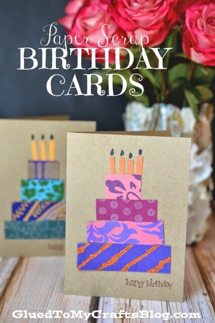 Paper Scrap Birthday Cards