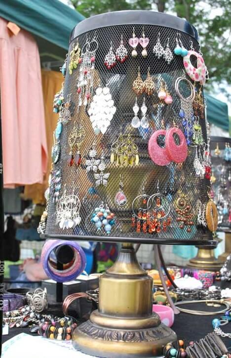 Re Purpose A Wire Trash Basket Into Earring Holder