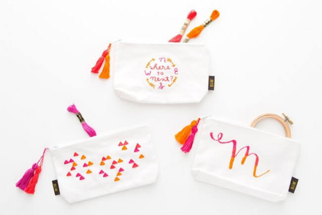 3 Ways to Embroider Your Travel Pouch
