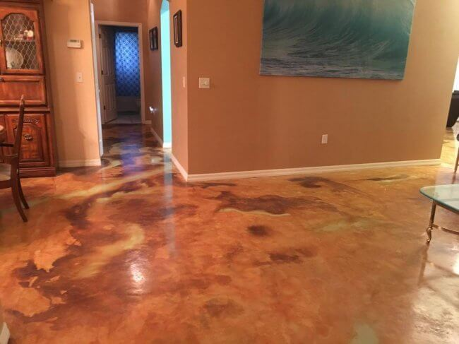 Acid Stain Concrete Floors Yourself and Here's How!