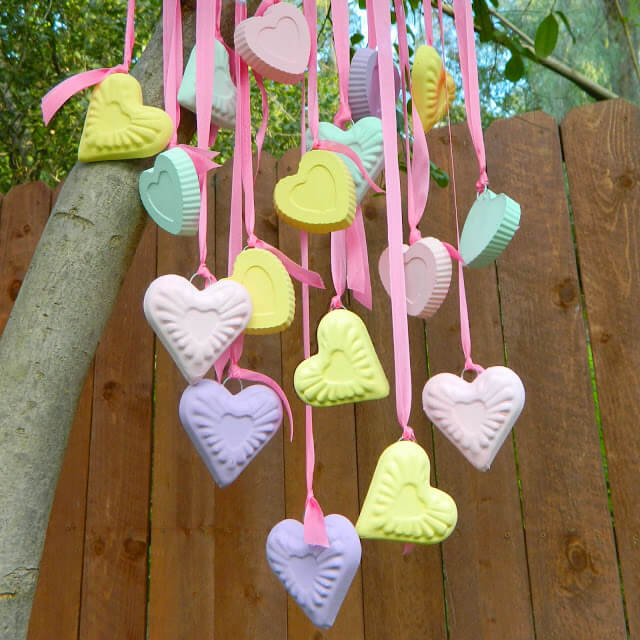 Candy Hearts Wind Chime (and Ornaments)