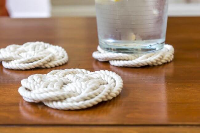 DIY Coasters & Trivets using Turk's Head Knot