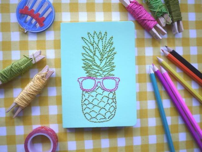 DIY: Embroidered Notebooks