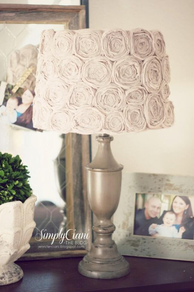 DIY Shabby Chic Rosette Lampshade