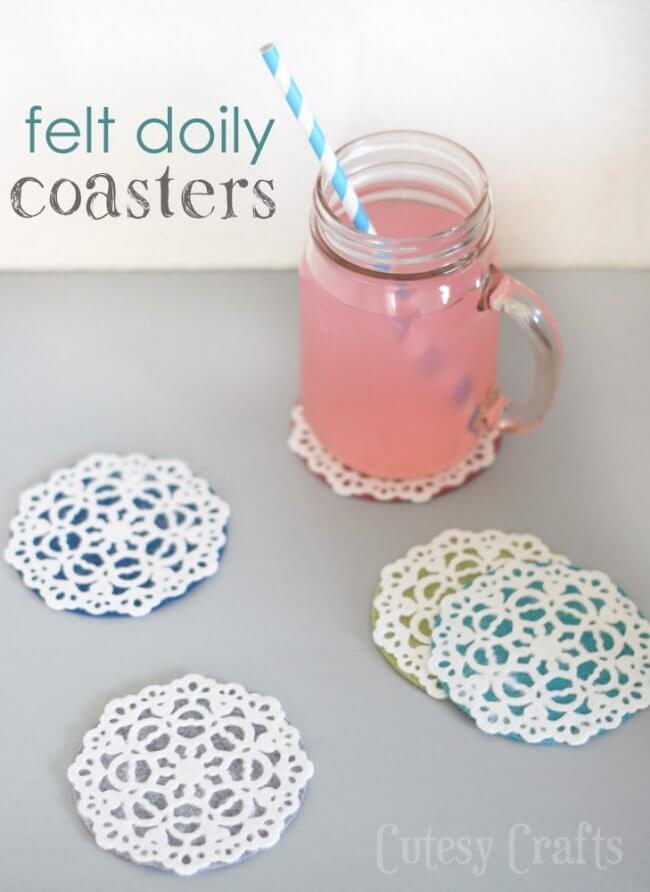 Felt Doily Coasters